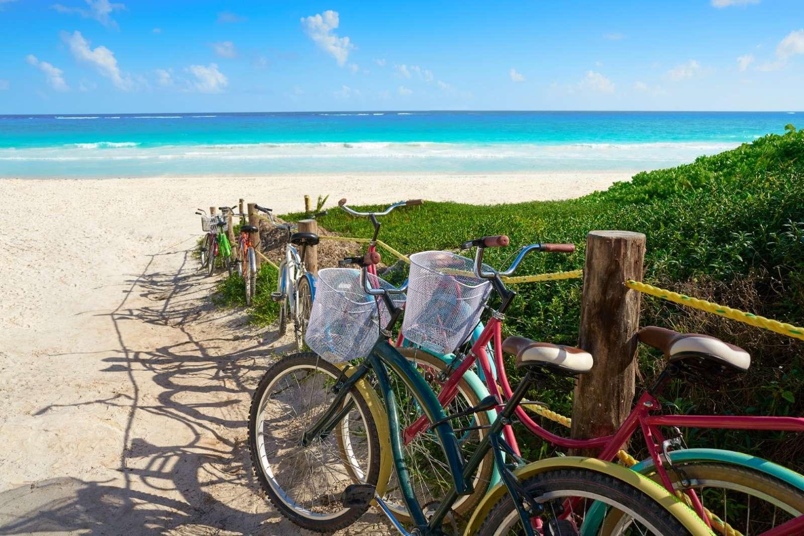 Bikes on Tulum beach