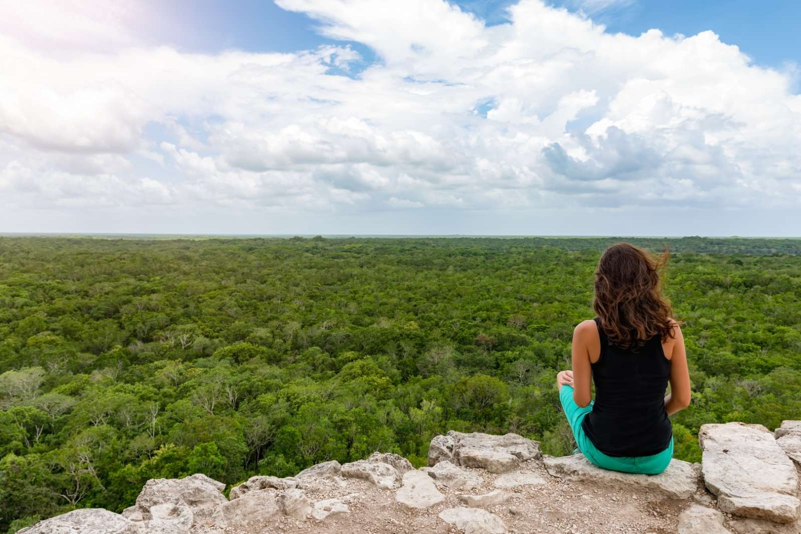 View from the top of Coba's main pyramid