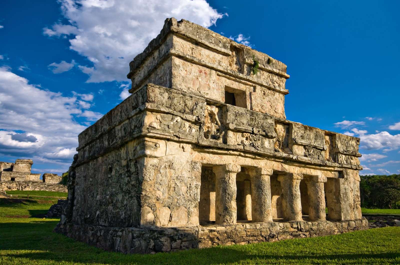 Temple of frescoes in Tulum, Mexico