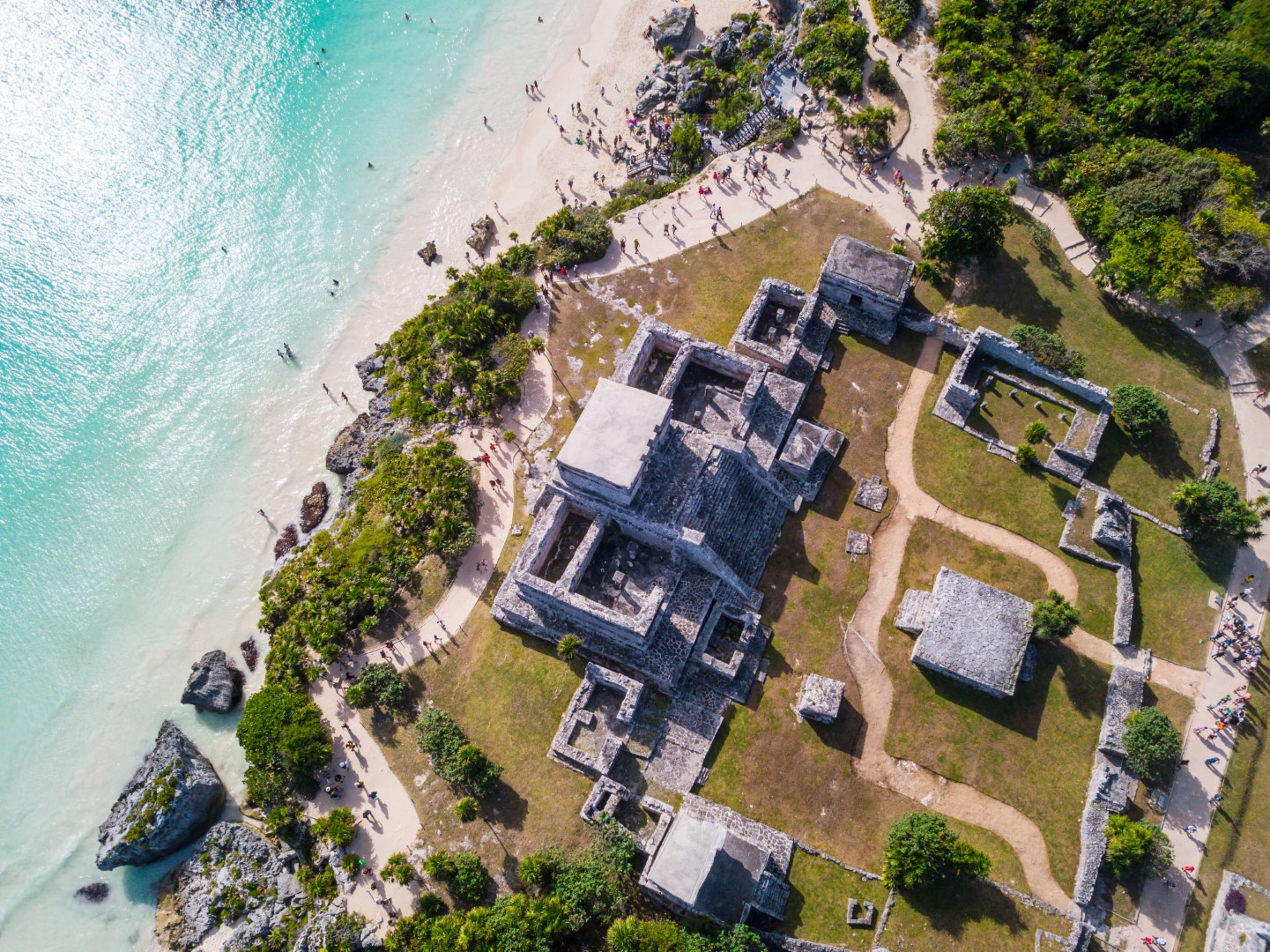 The ruins of Tulum from above