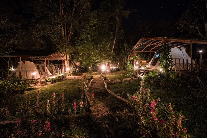 Uaxactun campsite Guatemala