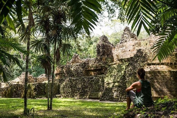 Uaxactun ruins Guatemala