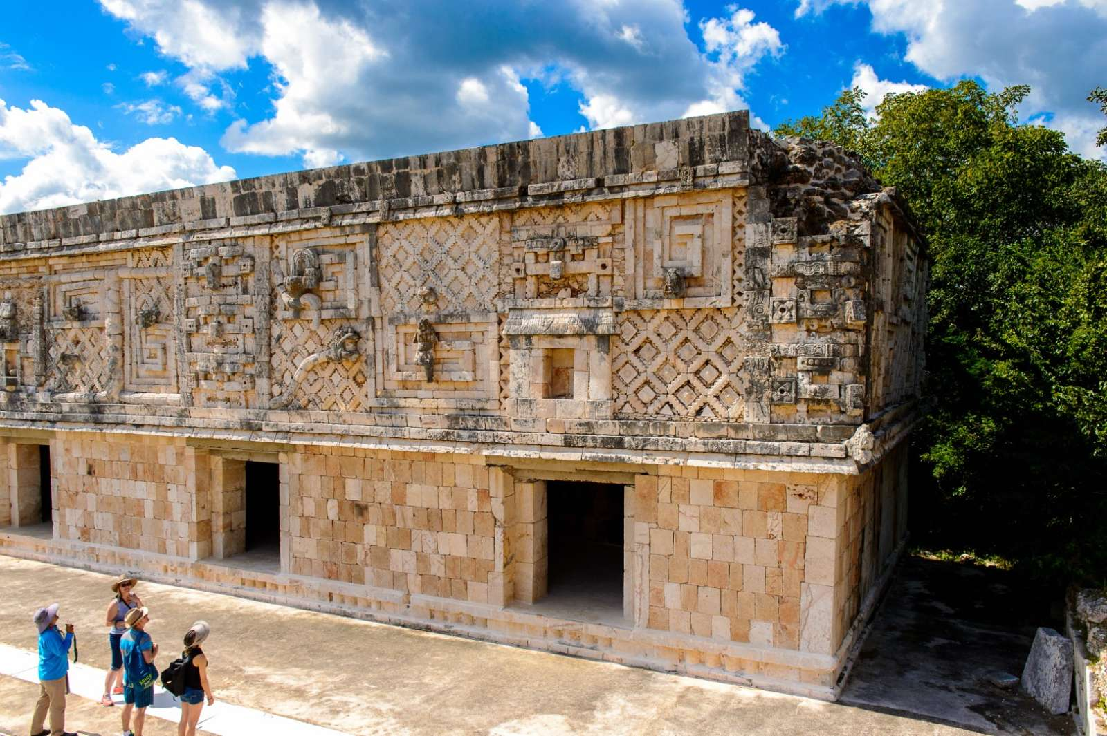 Building of the nunnery, Uxmal Mexico