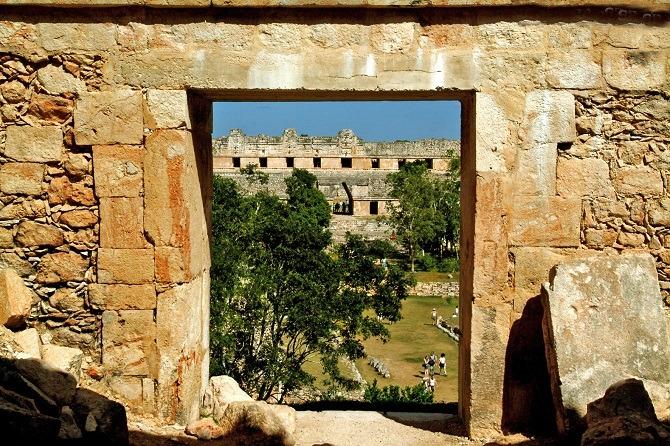 Looking through a door at Uxmal