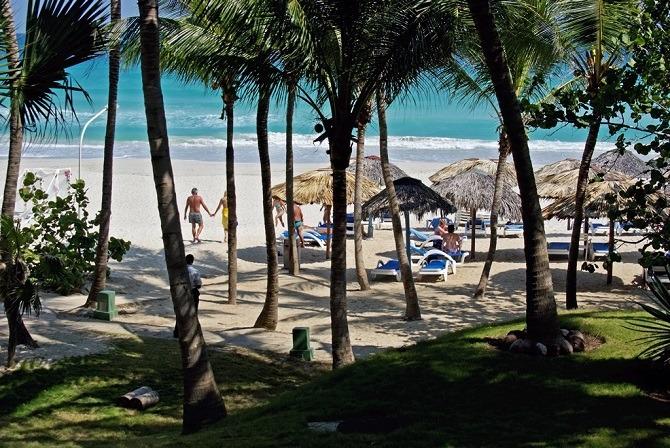 The beach at Varadero in Cuba