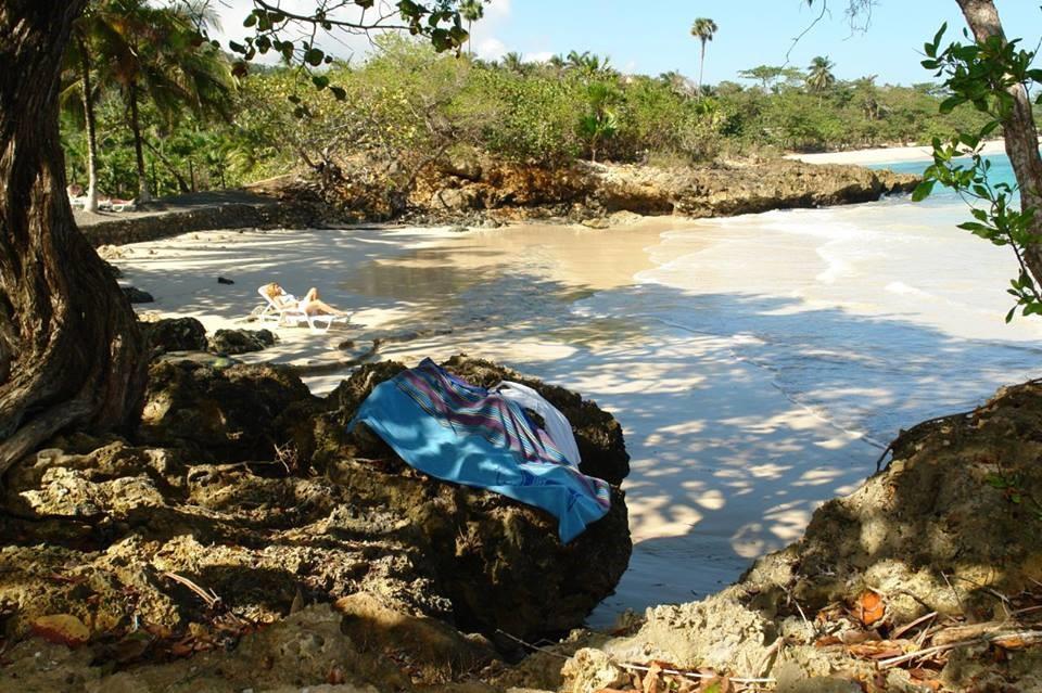 Private beach at Villa Maguana
