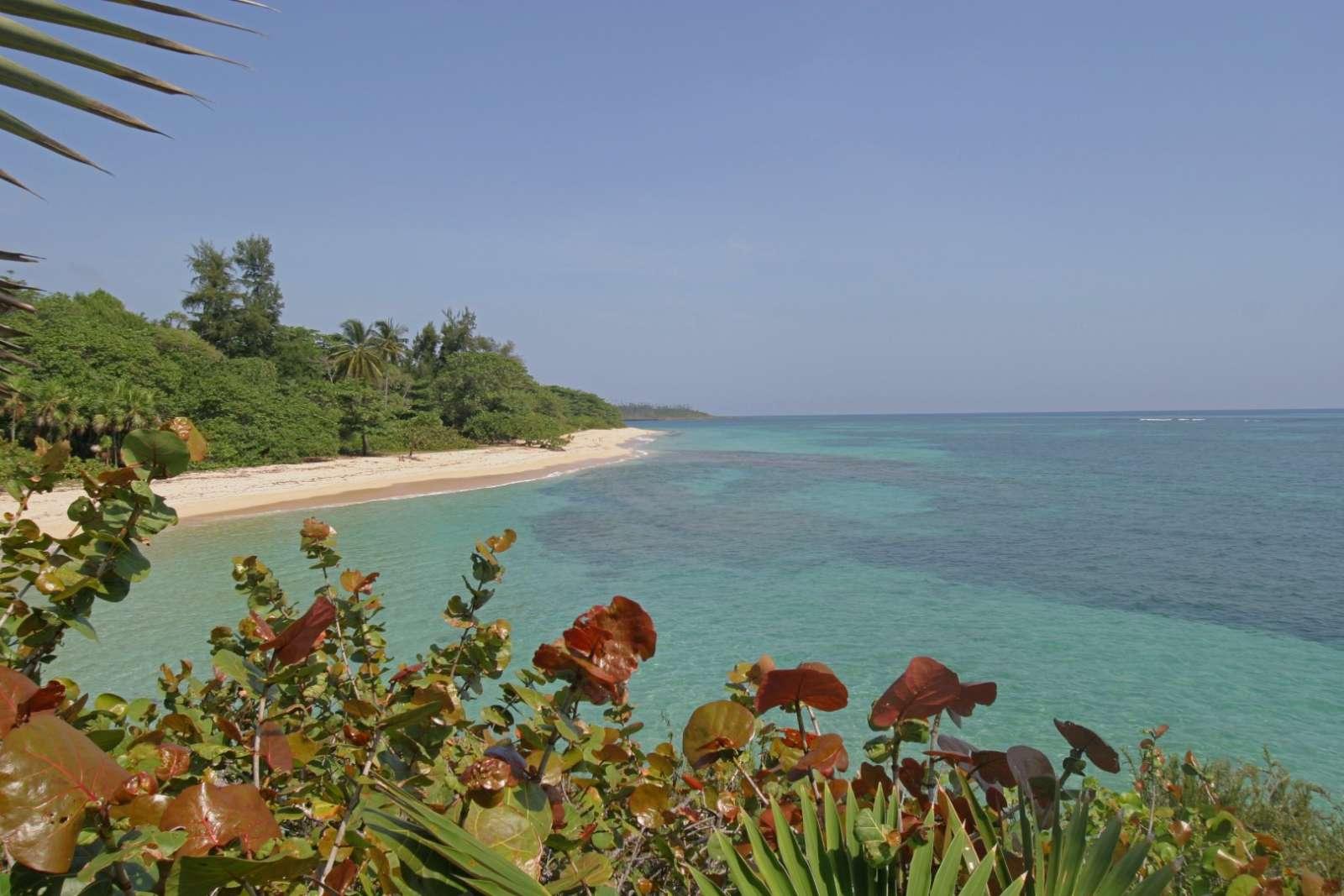 Beach vista at Villa Maguana