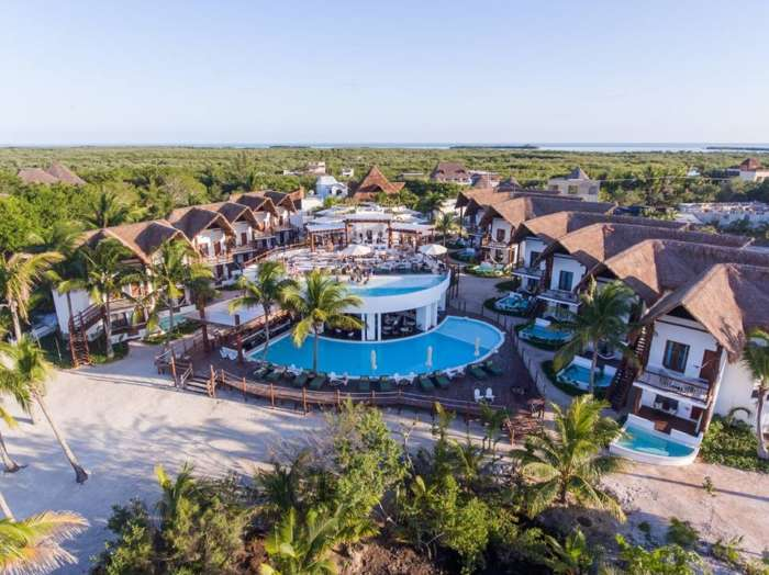 Aerial of Balcony at Villas Hm Palapas Del Mar, Holbox