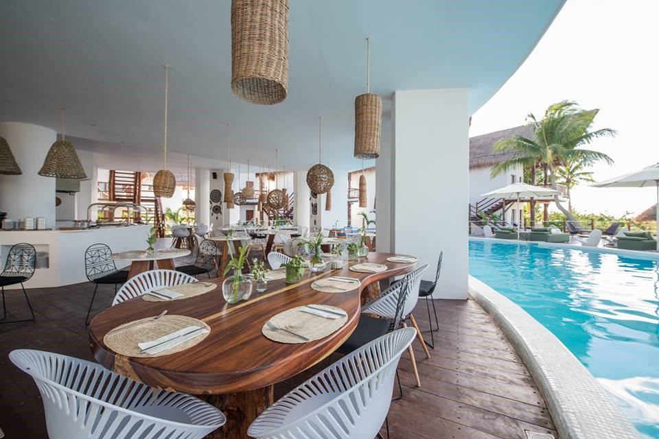 Restaurant at Balcony at Villas Hm Palapas Del Mar, Holbox
