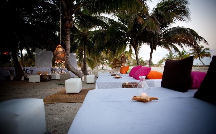 Beach beds at Villas Hm Paraiso Del Mar, Holbox