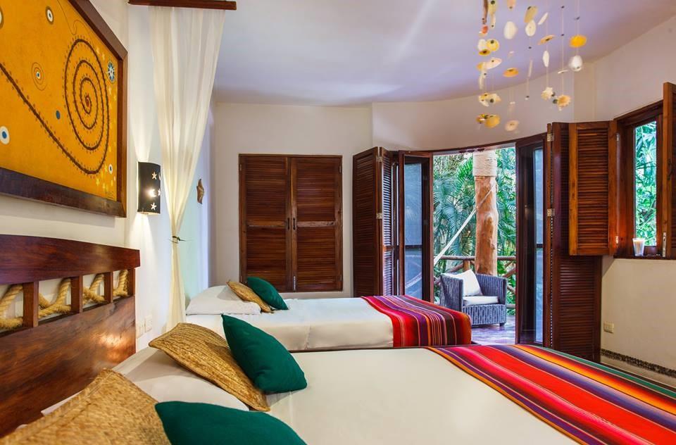 Bedroom with balcony at Villas Hm Paraiso Del Mar, Holbox