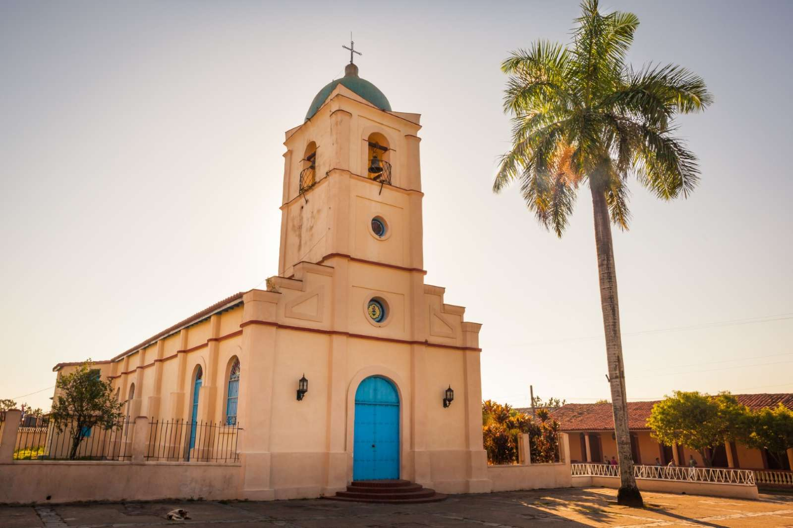 Church in the centre of Vinales town, Cuba