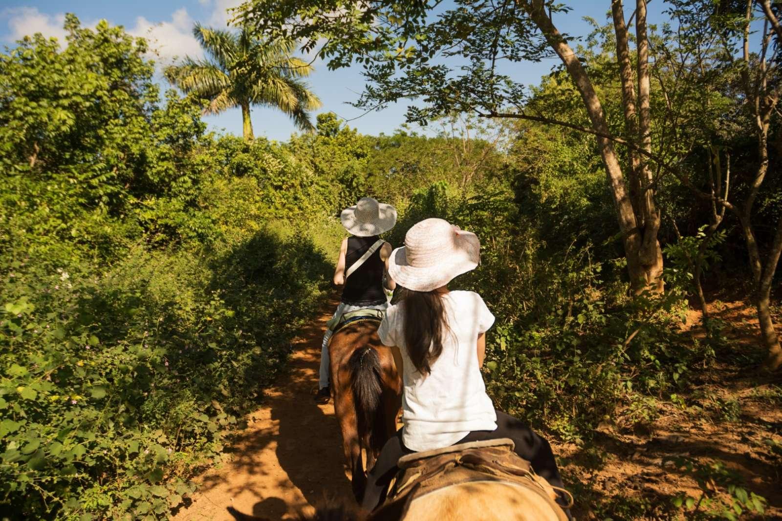 Horseback riding in Vinales, Cuba