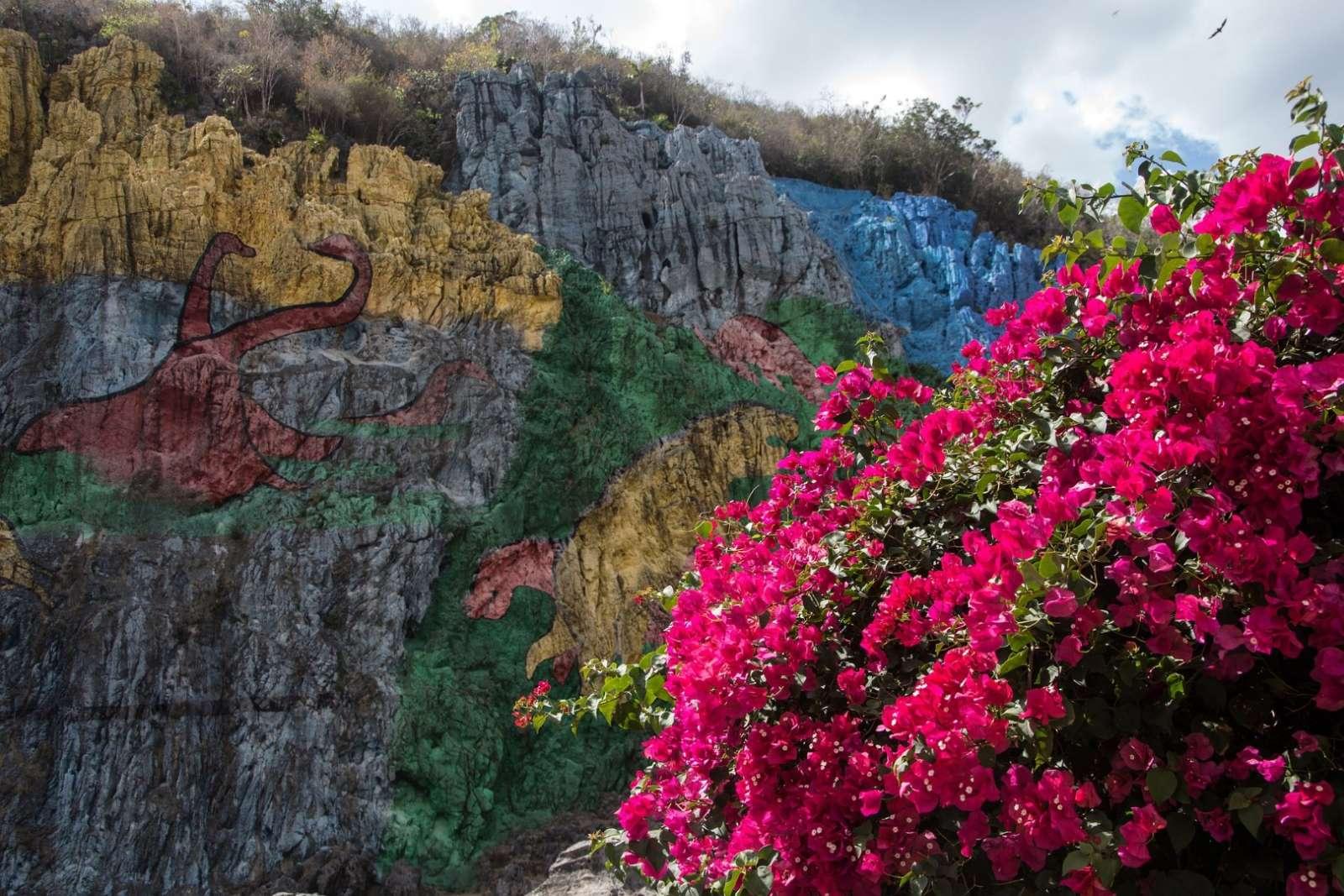Mural of Pre-History in Vinales, Cuba