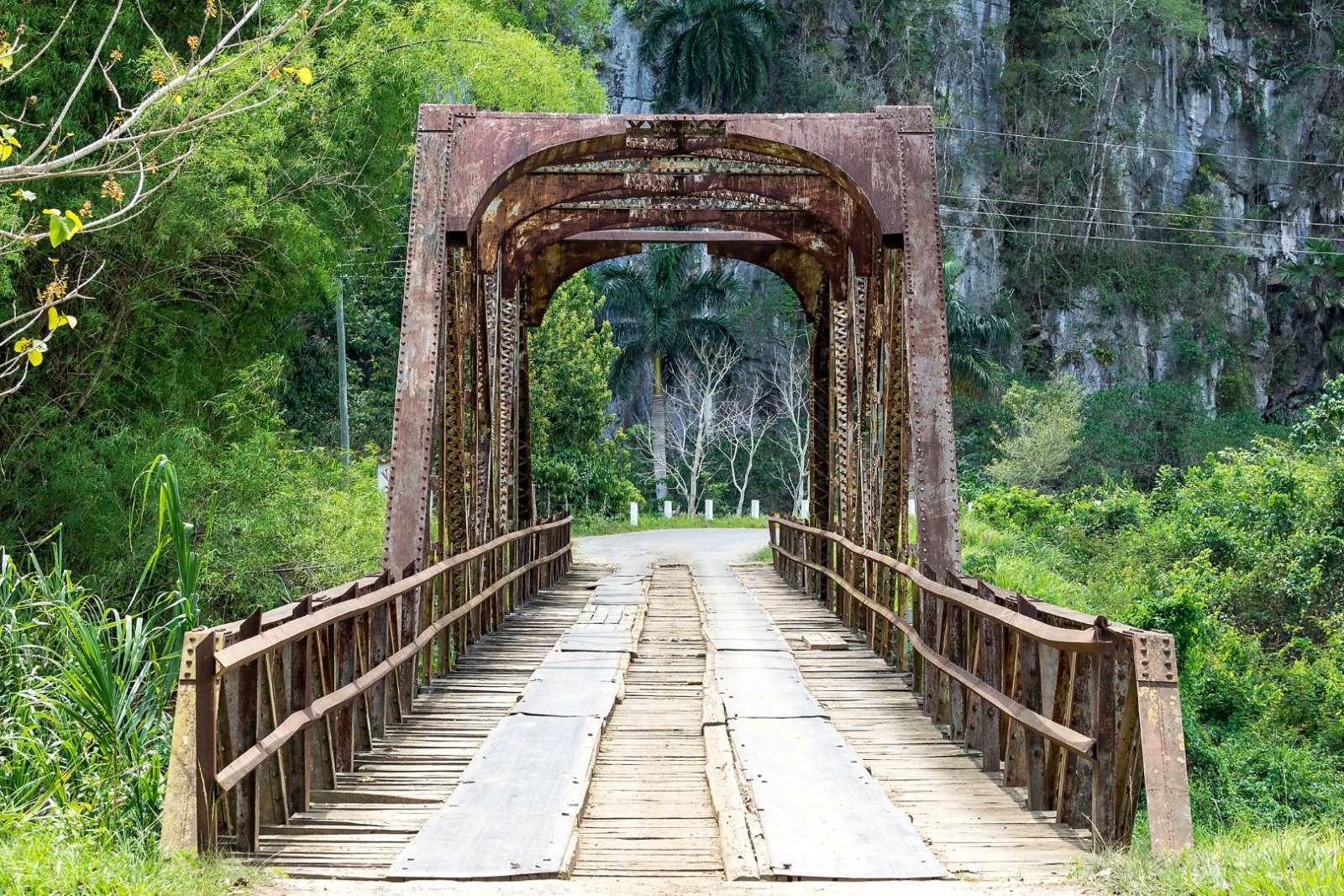 A rustic, old bridge in Vinales, Cuba
