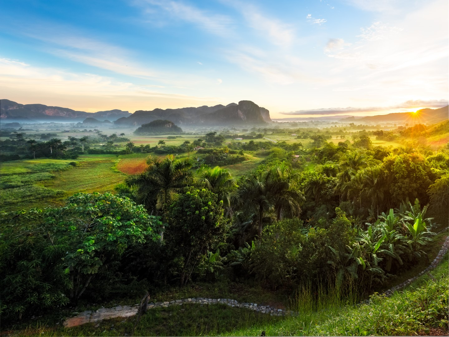 Vinales Valley in Cuba at sunrise