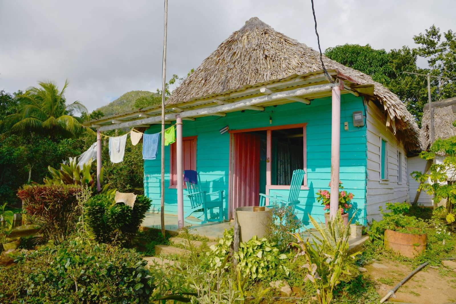 Small farmhouse in the Vinales countryside, Cuba