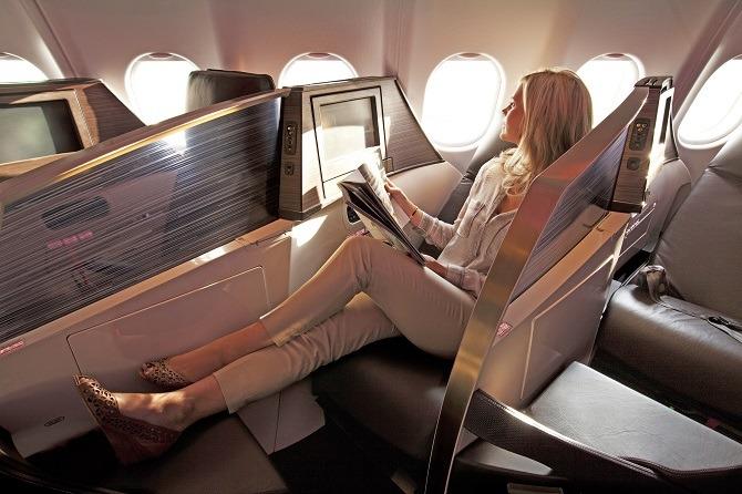 Upper Class on a Virgin Atlantic flight
