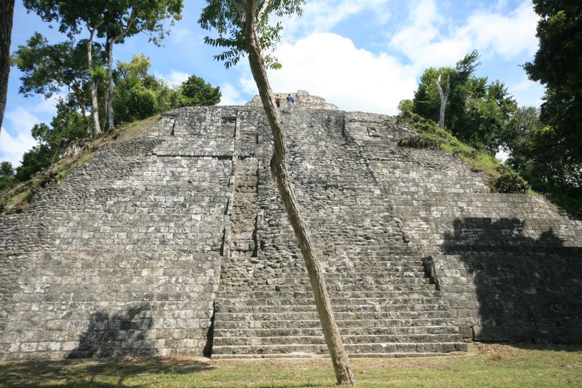 Pyramid at the Mayan ruins of Yaxha