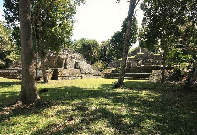 Adjacent pyramids at Yaxha, Guatemala