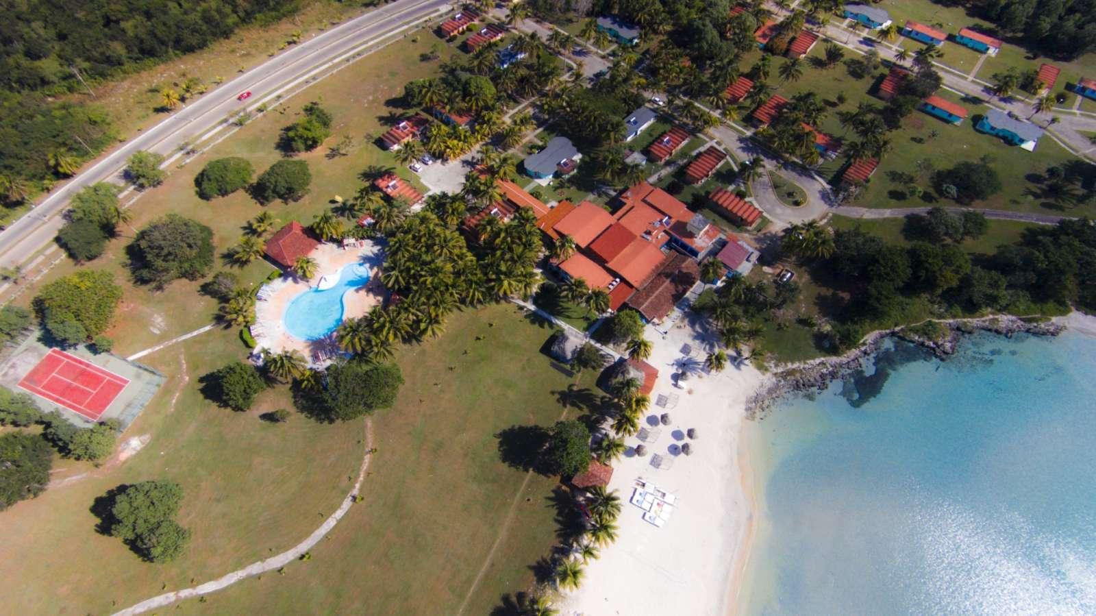 Aerial view of Hotel Playa Larga