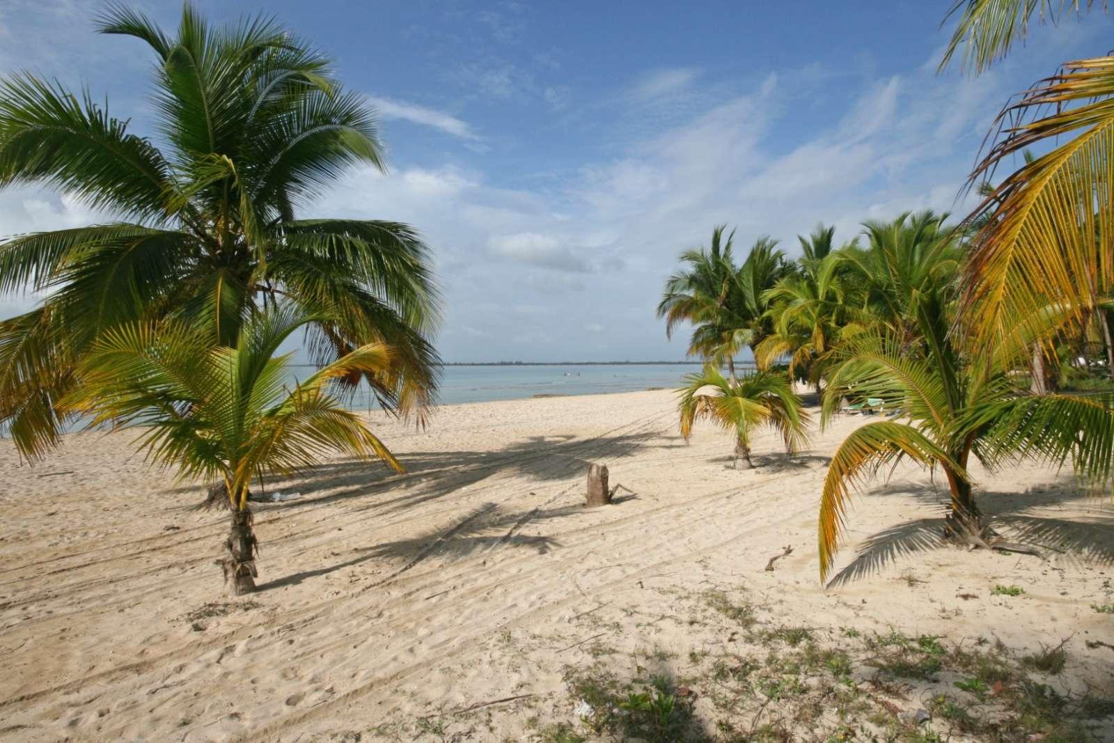 Deserted beach at Hotel Playa Larga