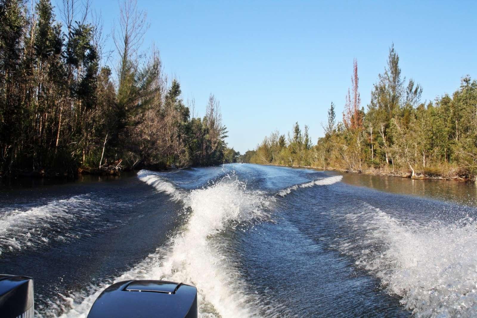 Boat trip in the Zapata Peninsula