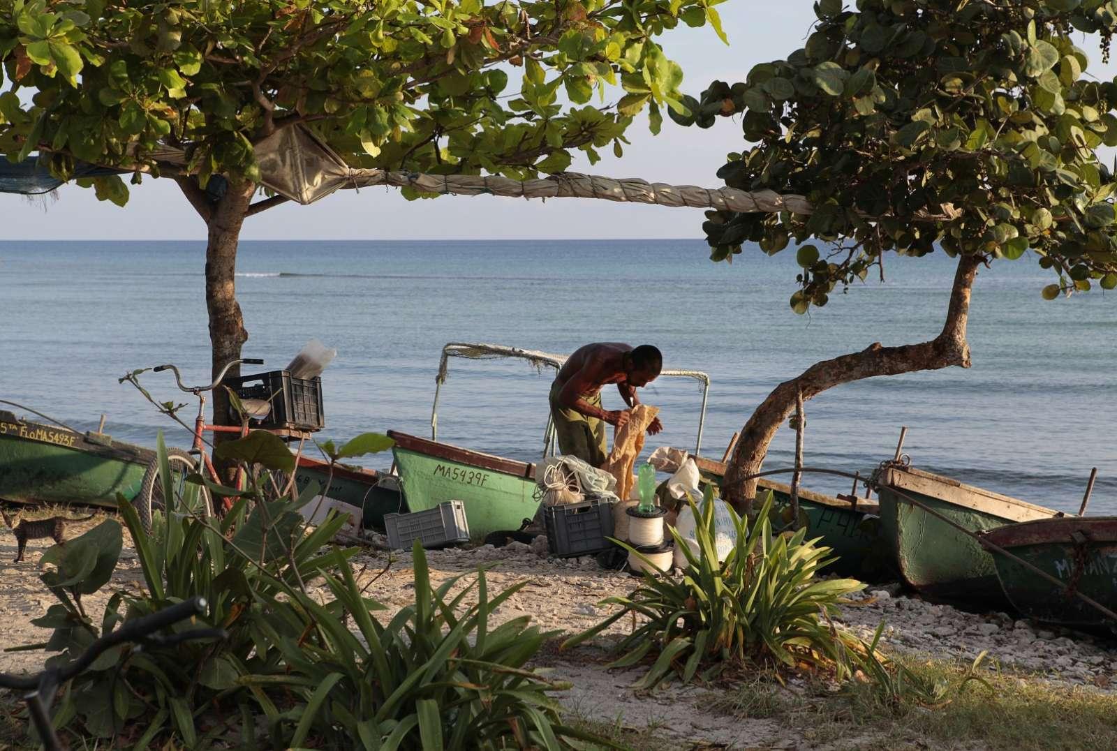 Fisherman in the Zapata Peninsula, Cuba