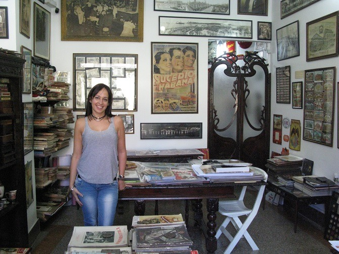 Memorias Libreria, an antique shop in Old Havana, Cuba
