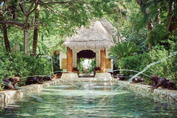 Fountain at Belmond Maroma Resort