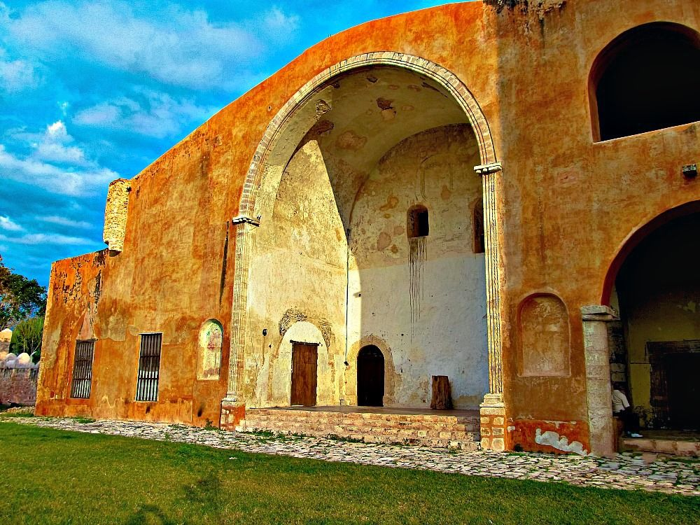 Church at Mani on the Convent Route in Yucatan