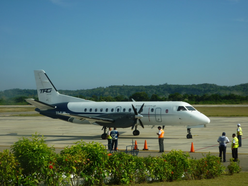 Flying In Guatemala from Flores airport
