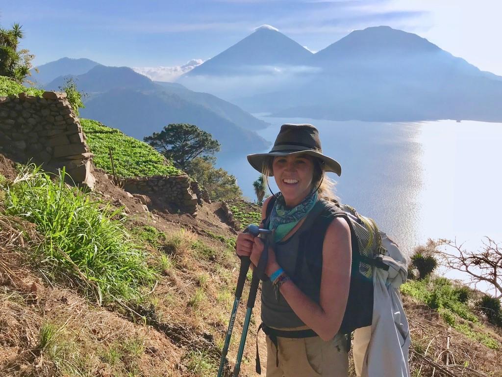 End of the hike at Lake Atitlan