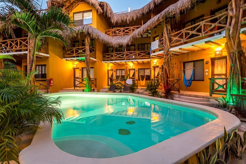 One of the pools at Hotel Holbox Dream in Mexico