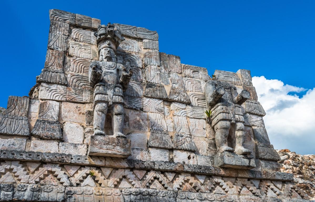 Carving at Kabah in Yucatan