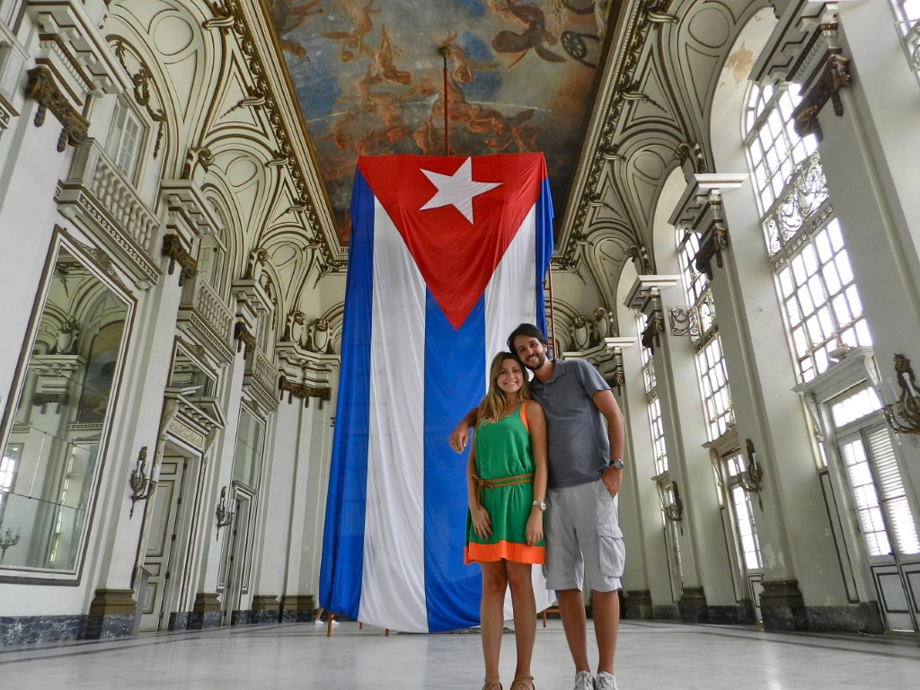 The interior of the Museum of the Revolution in Havana, Cuba