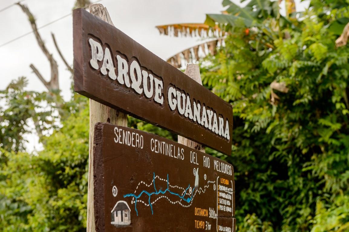 Sign for Parque Guanayara in Cuba
