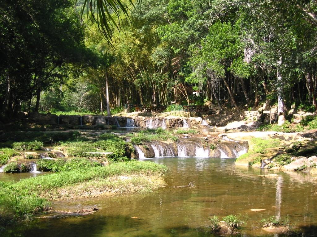 The San Juan River near Las Terrazas in Cuba