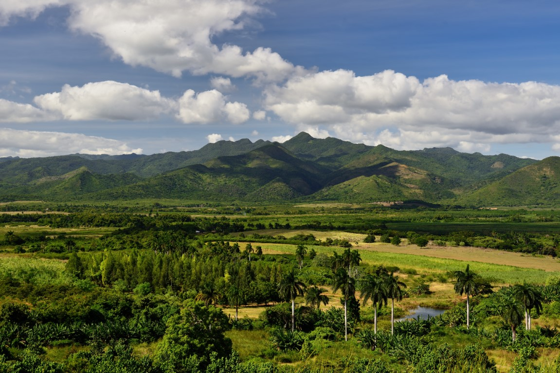 The beautiful scenery of the Valley of the Sugar Mills in Cuba