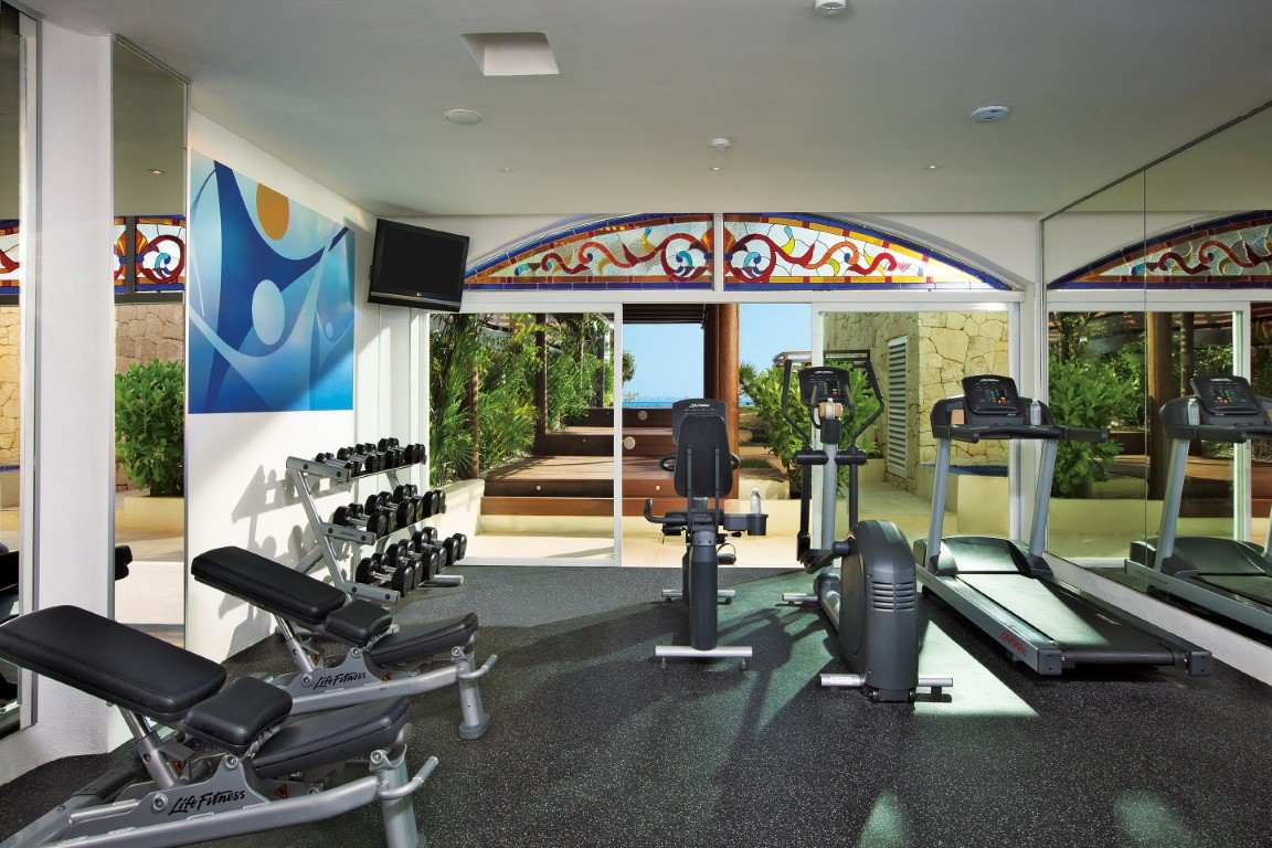 Gym and wellness centre at Zoetry Villa Rolandi