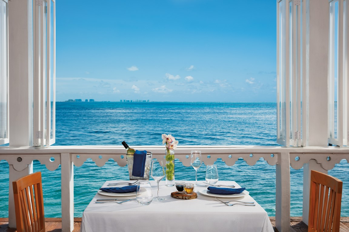 Seaview from the restaurant at Zoetry Villa Rolandi