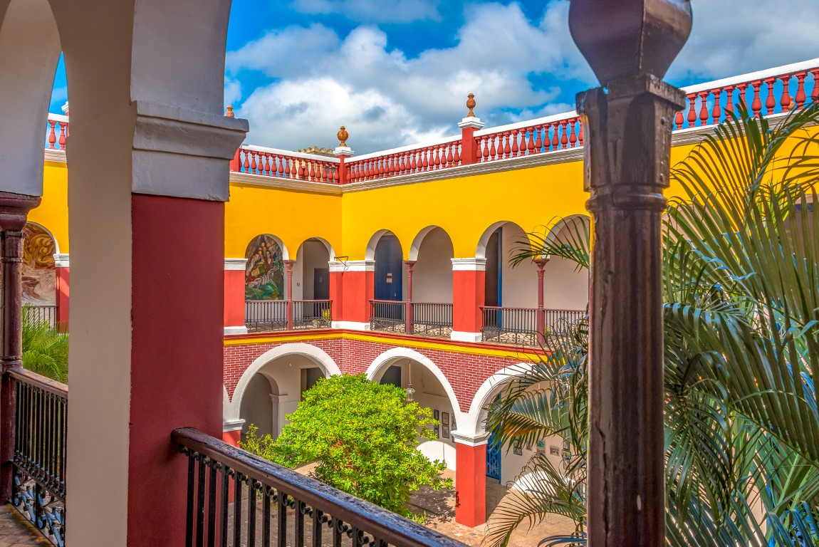 Colourful old building in Holguin, Cuba