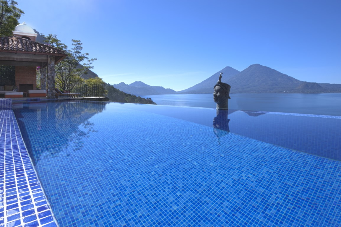 Infinity pool at Casa Palopo overlooking Lake Atitlan