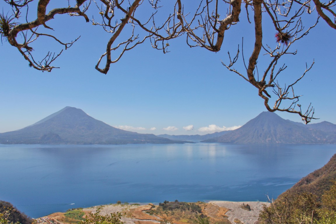 Panoramic view of Lake Atitlan from Solola Market