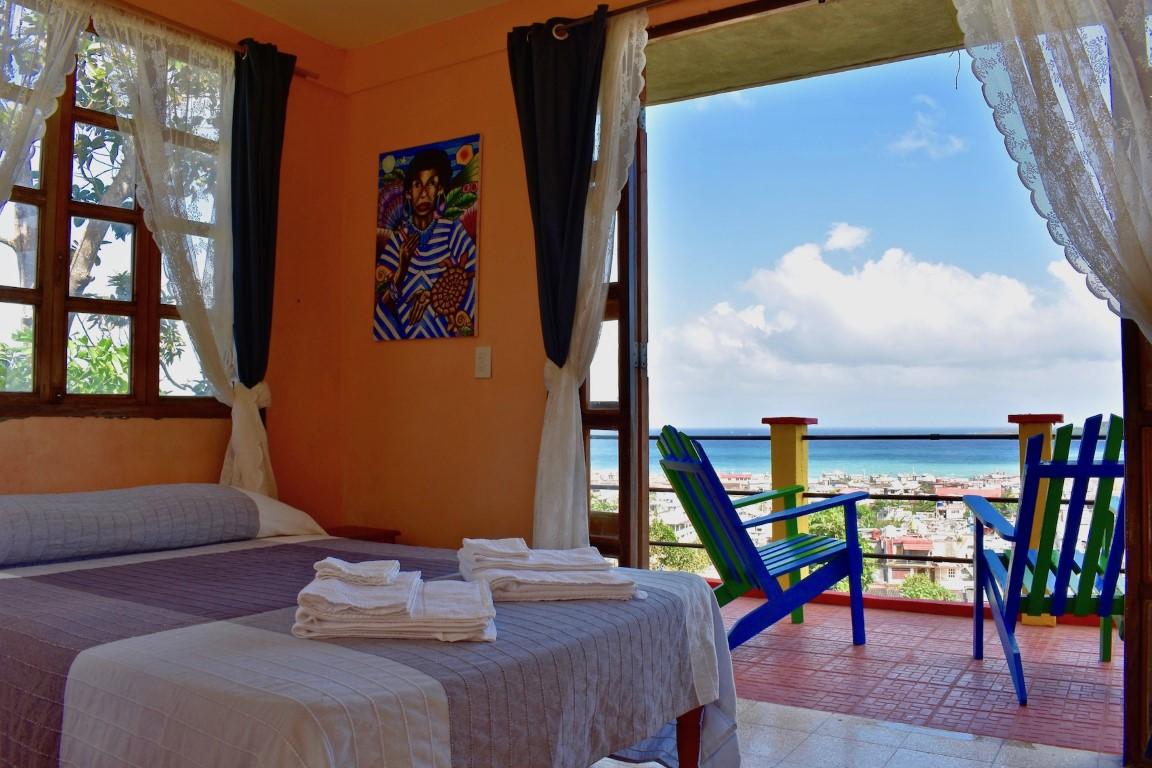 View from bedroom at Villa Paradiso in Baracoa