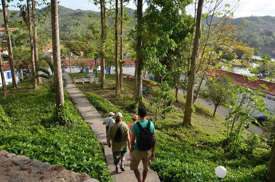 Walking group approaching Las Terrazas, Cuba
