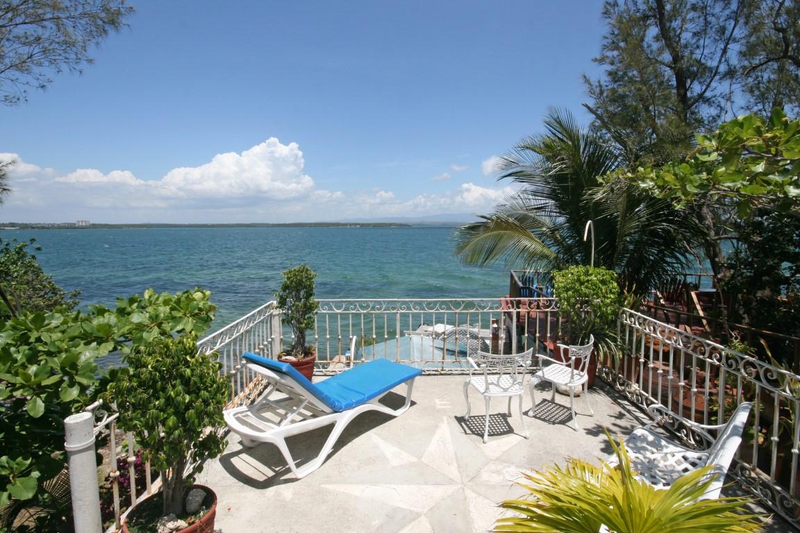 The view of Cienfuegos Bay from Los Delfines homestay