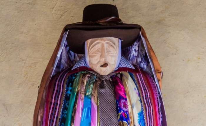 Maximon is a traditional Guatemalan folk saint