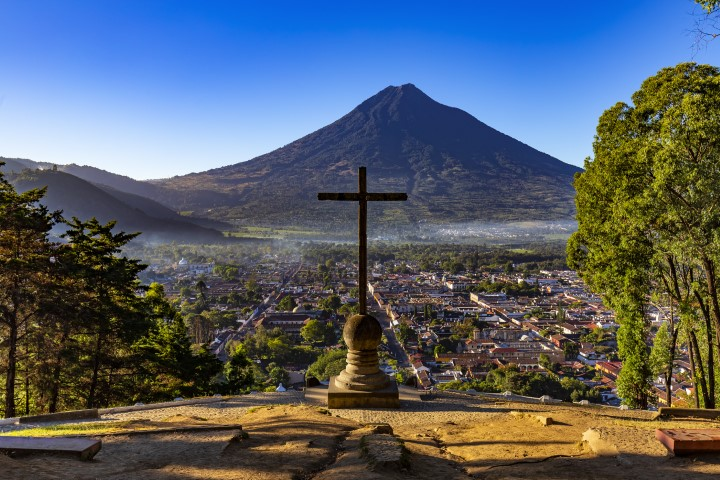 Cerro de la Cruz overlooking Antigua town in Guatemala