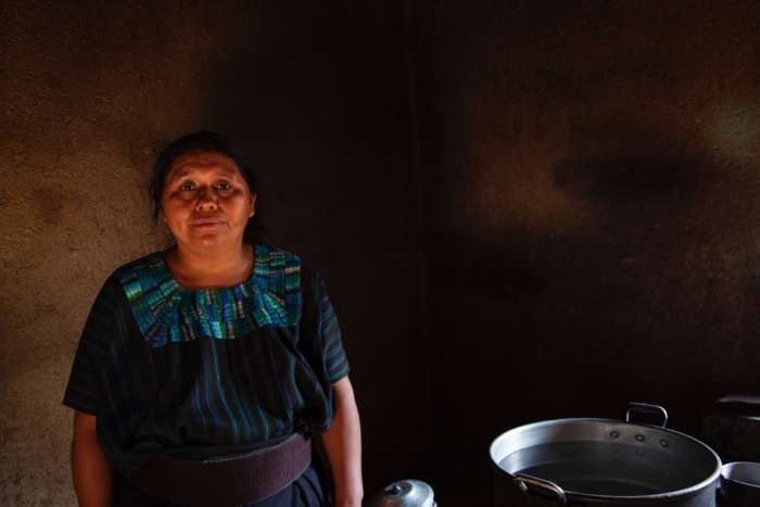 Guatemalan woman in kitchen